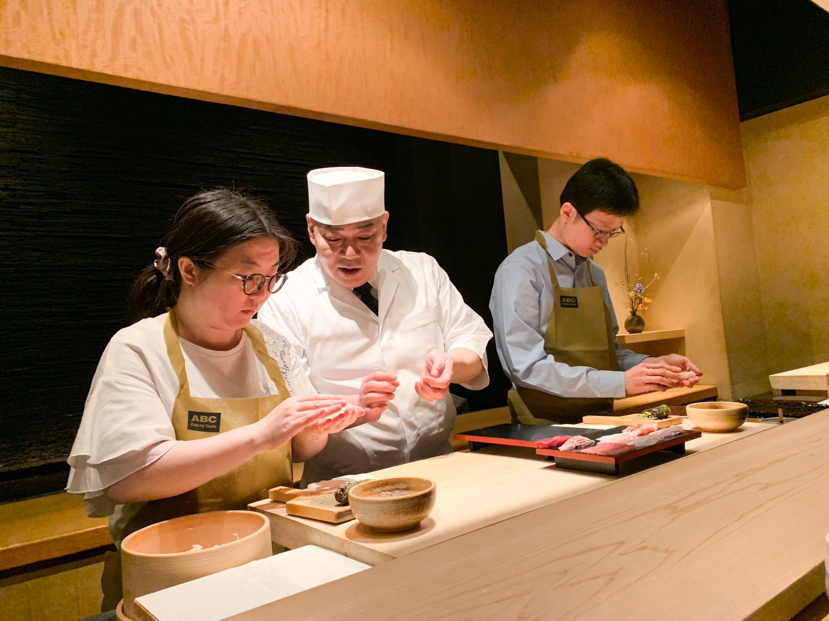 abc cooking travel  sushi making with a chef at the