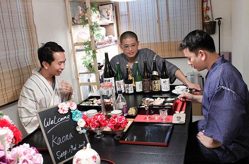 washo cooking class osaka japan japanese sake tasting activity