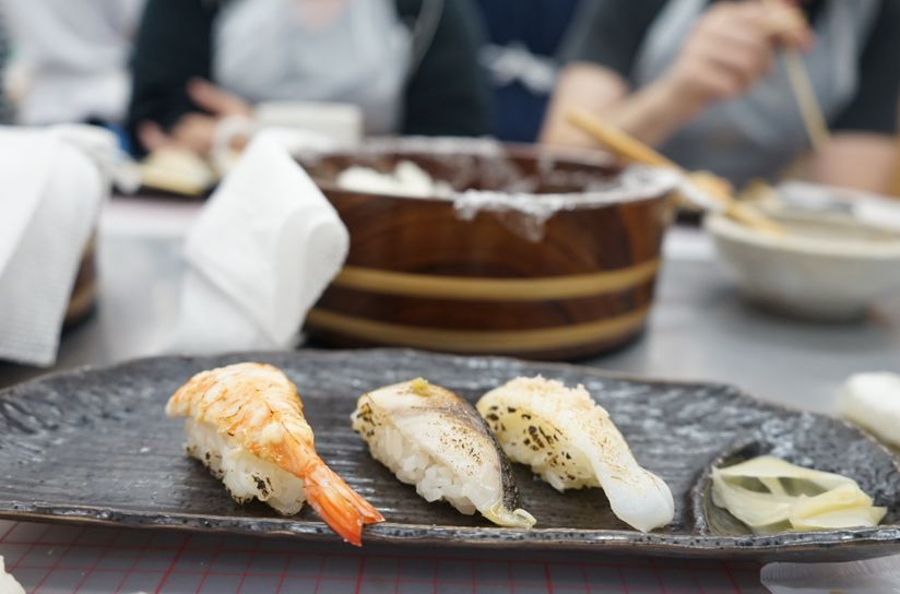 Sushi Making Workshop near Tsukiji Fish Market on Saturdays